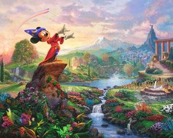 Disney Mickey Fantasia  36in Panel # DS2020-9C