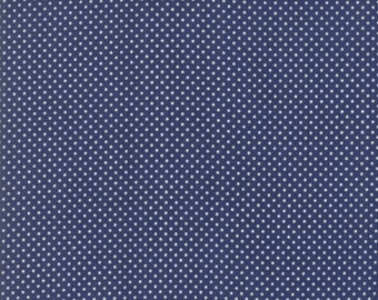 Early Bird - Bonnie Camille Fabric - 55195 15/ 5519515 - Early Bird Dots Navy