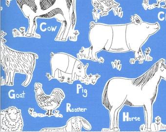 On The Farm  - 2070221 - Moda - Animal Farm Blue  By Stacy Iest Hsu
