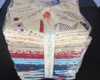 Sandy Gervais - Red, White And Free Fat Quarter Bundle