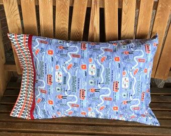 Novelty Pillowcase - British Themed / England Pillowcase / U.K - From London With Love