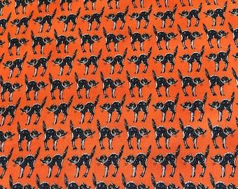 Moda Halloween Bewitching - Deb Strain Seasonal Halloween Creepy Cats Orange - 1984413