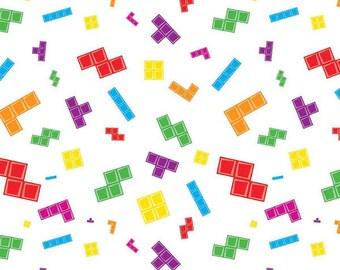 Riley Blake - Tetris Main White C6780
