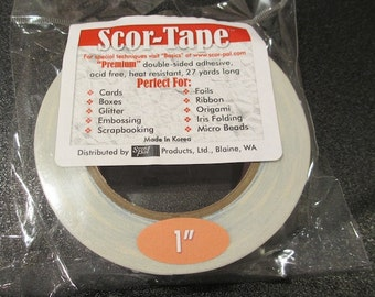 Scor-Tape - Premium Double Sided Adhesive 1""