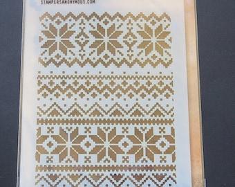 Tim Holtz - Layering Stencil - THS028 - Holiday Knit