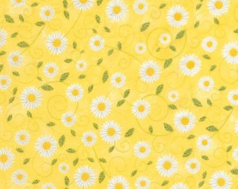 Timeless Treasures - Daisy Vine You are my Sunshine Collection  Fabric C5498 - Yellow