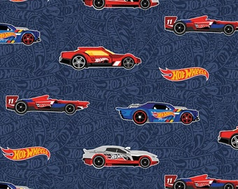 Riley Blake - Hot Wheels Main Navy C9750 - Fabric - I Spy Fabric - Hotwheels