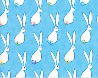 End of Bolt 1/4 Yard  - Me My Sister Frolic Fabric Rabbit - Me My Sister Floral Hoppin Good Time - 22312 19 - I Spy Fabric