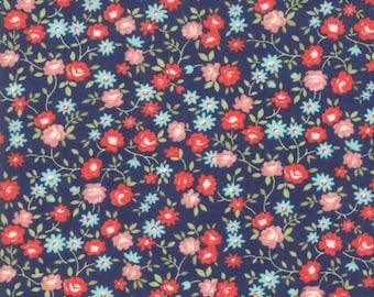 Early Bird - Bonnie Camille Fabric - 55194 15/ 5519415 - Early Bird Rosie Navy