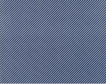 Bonnie and Camille Fabric - Bonnie Camille Basic Scrumptious Mini Stripe Dark Blue 5507137