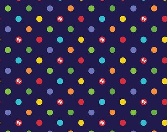 Riley Blake - Fisher-Price Dots Navy C9764 - Fabric - I Spy Fabric - Official licensed product