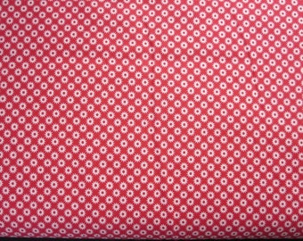 Sidewalks Starburst Red Fabric - Out Of Print - Rare Find!