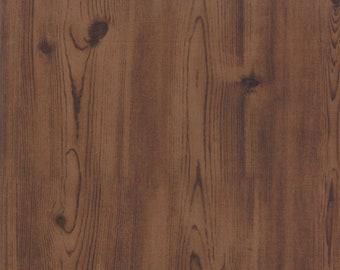 End Of Bolt 35 Inches - Moda -  Modascapes Wood Grain Walnut 15630 18 Moda