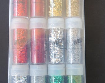 American crafts Extra Fine And Chunky Glitter Set - 27395