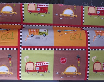 Riley Blake - On Our Way Fabric -C4121-BROWN Way Cars Brown