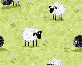 Kiwi Lal the Lamb in the Meadow - sheep Fabric - 20049-830