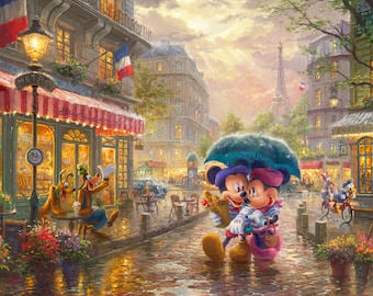 Disney Mickey And Minnie In Paris Panel 36in DS20289C1