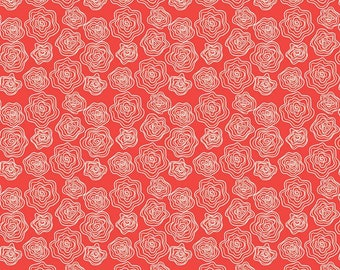 Riley Blake - From The Heart  Roses Red C10052- Fabric - Sandy Gervais
