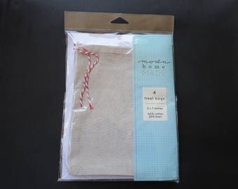"Moda 4 x Treat Bags - 5"" x 7""  Ready For You To Add Your Own Personal Touch"