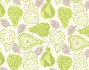 Moda - North Woods- 2724315 - One Week Sale 8.57 A Yard - Mod Pear Green on Cream Background