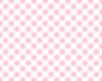 Lori Holt For Riley Blake Sew 2 Cherry Gingham Pink - C5808 - 1.5 Yards