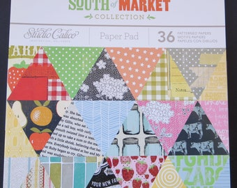 "Studio Calico Paper Pad - 6""x 6"" - 36 papers - South Market Collection"