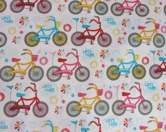 Riley Blake Girl Crazy - C3822-CREAM Girl Bikes Cream