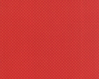Neco Scallops Red 16136 15 - Scallops Fabric