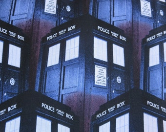 "BBC-Doctor Who Tardis -  43/44"" Wide 100% Cotton"