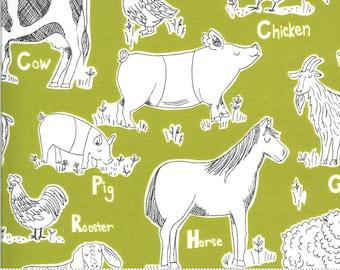 On The Farm  - 2070217 - Moda - Animal Farm Green By Stacy Iest Hsu