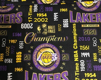 Los Angeles Lakers 2020 Champions -  83LAL192-1 - Lakers Fabric