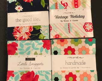Bonnie And Camille Little Snippets - Vintage Holiday - The Good Life - Handmade Charm Packs