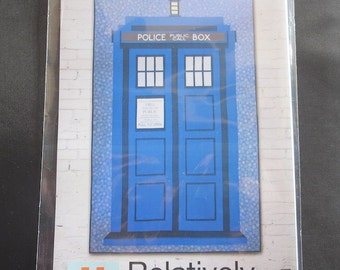 Relatively Dimensional Tardis Quilt Pattern