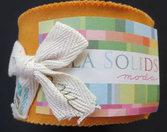 Bella Solids Junior Jelly Roll - Moda 9900JJR- 152 - Moda Cheddar