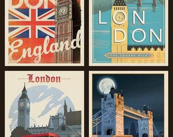 Riley Blake - Destinations Pillow Panel London