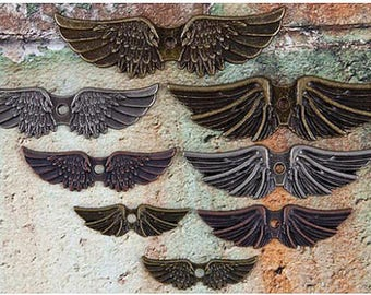 Steampunk - Prima Marketing Mechanicals Metal Embellishments - Metal Wings - 962432