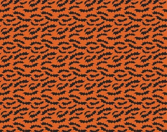 Riley Blake - Fab-boo-lous  Bats Orange - C8174