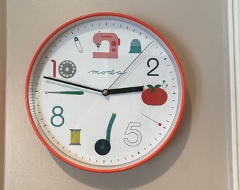Great Christmas/ Sewing Gift -  Moda Clock - Sewing - Limited Stock