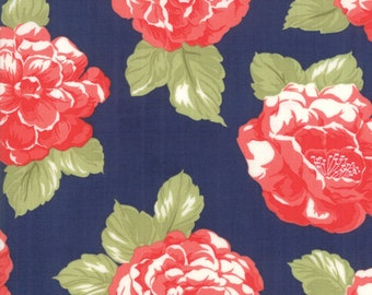 Early Bird - Bonnie Camille Fabric - 55190 15/ 5519015 - Early Bird Blooms Navy