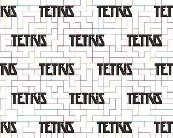 7.25 US Dollars A Yard Riley Blake - Tetris Logo White C6781 After Thanksgiving Sale - One Week