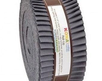 Roll Up Kona Solids Coal Color 40pcs 2-1/2in Strips - RU-317-40