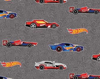 Riley Blake - Hot Wheels Main Gray C9750 - Fabric - I Spy Fabric