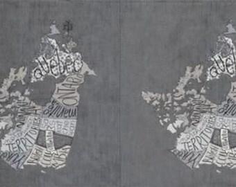 6.99 A Panel  - CANADA Metropolis Panel 24 x 44 - Metropolis Canada Panel Primer 30570 13 Moda- Basicgrey for Moda Fabrics