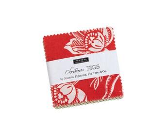 Fig Tree Fabric - Christmas Figs ll MINI Charm Pack