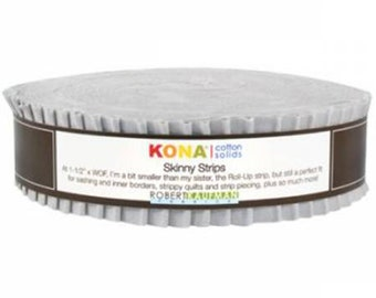 Skinny Strips Kona Cotton Solids Ash 40pcs - SS-113-40