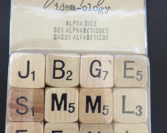 Tim Holtz Idea-Ology Wooden Alpha Dice