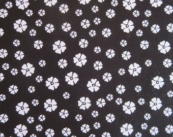 Rosecliff Blossoms Black Fabric
