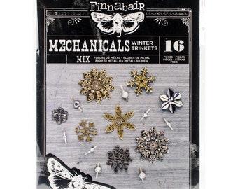 Finnabair Mechanicals Metal Embellishments -  Steampunk Embellishments - Product 964405 - Winter Trinkets