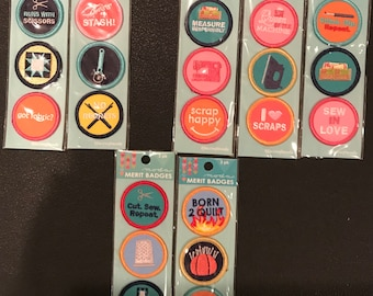Moda Merit Badges BADGE Set - Sewing Merit Badges - Grab While You Can -  Badges Have Now Been Discontinued!