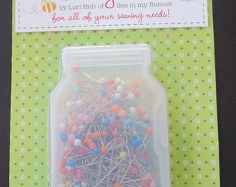 Lori Holt - Pretty Pins - 250 Applique Pins - 0.5mm x 20mm - 10 Assorted Colors